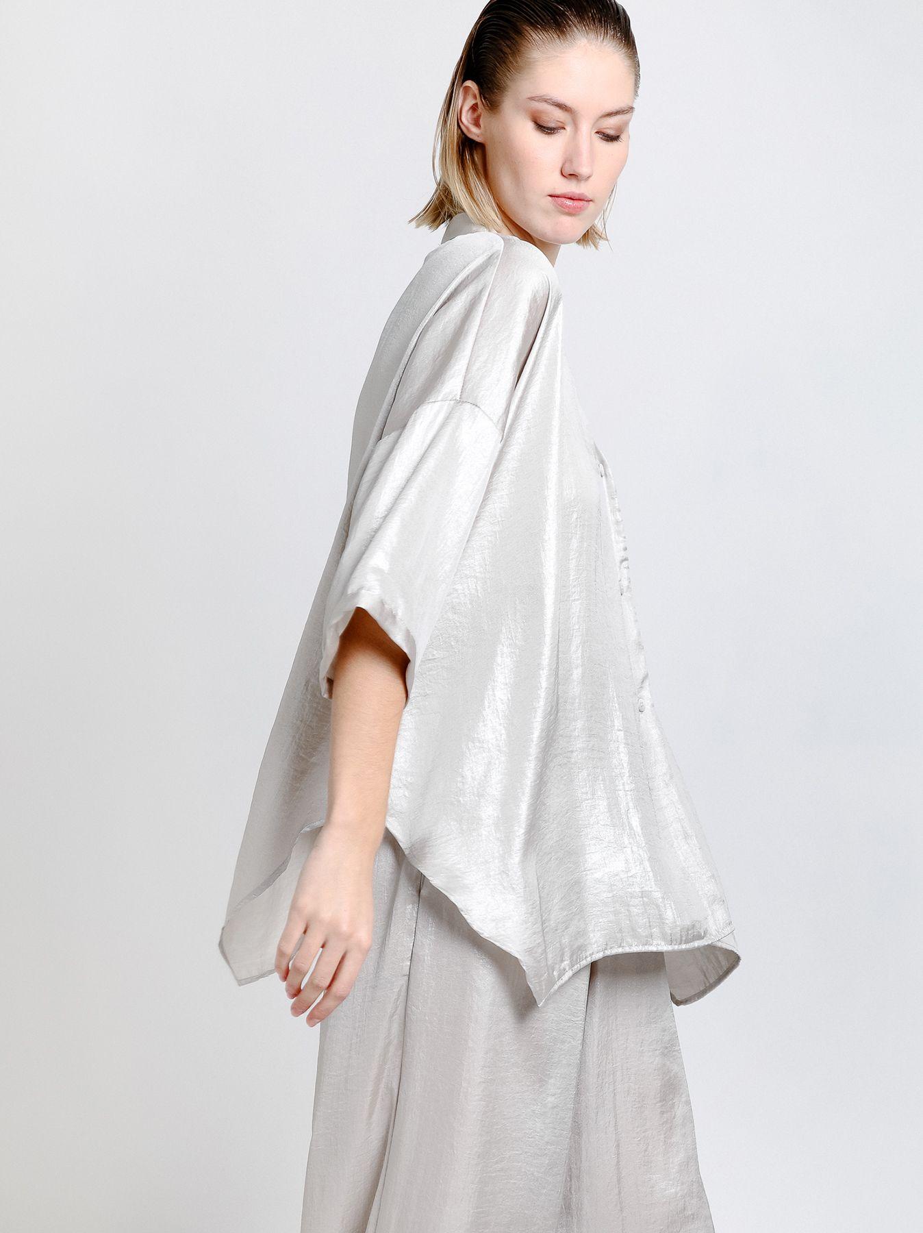 Camicia over in viscosa stampata