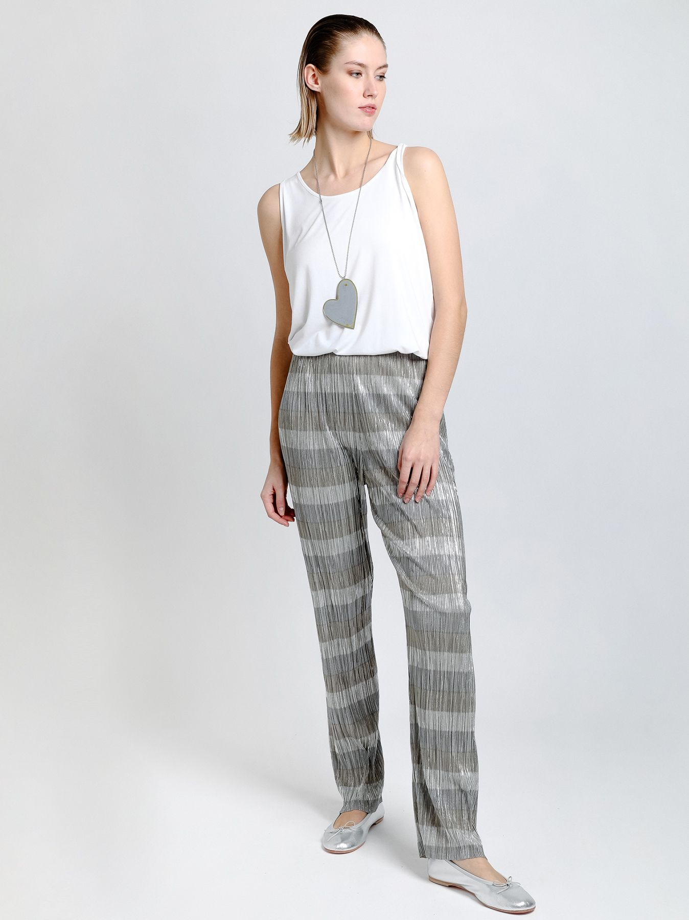 Pantalone plazzo plissé