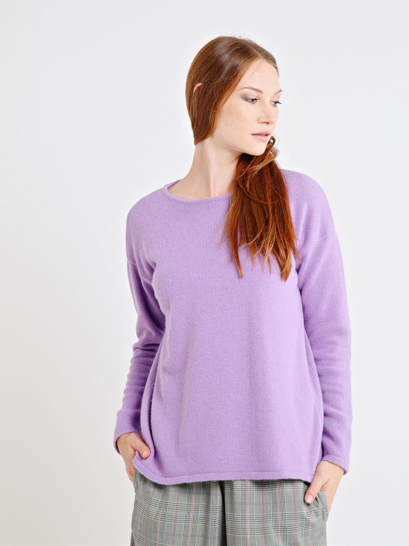 Box shaped body knit jumper