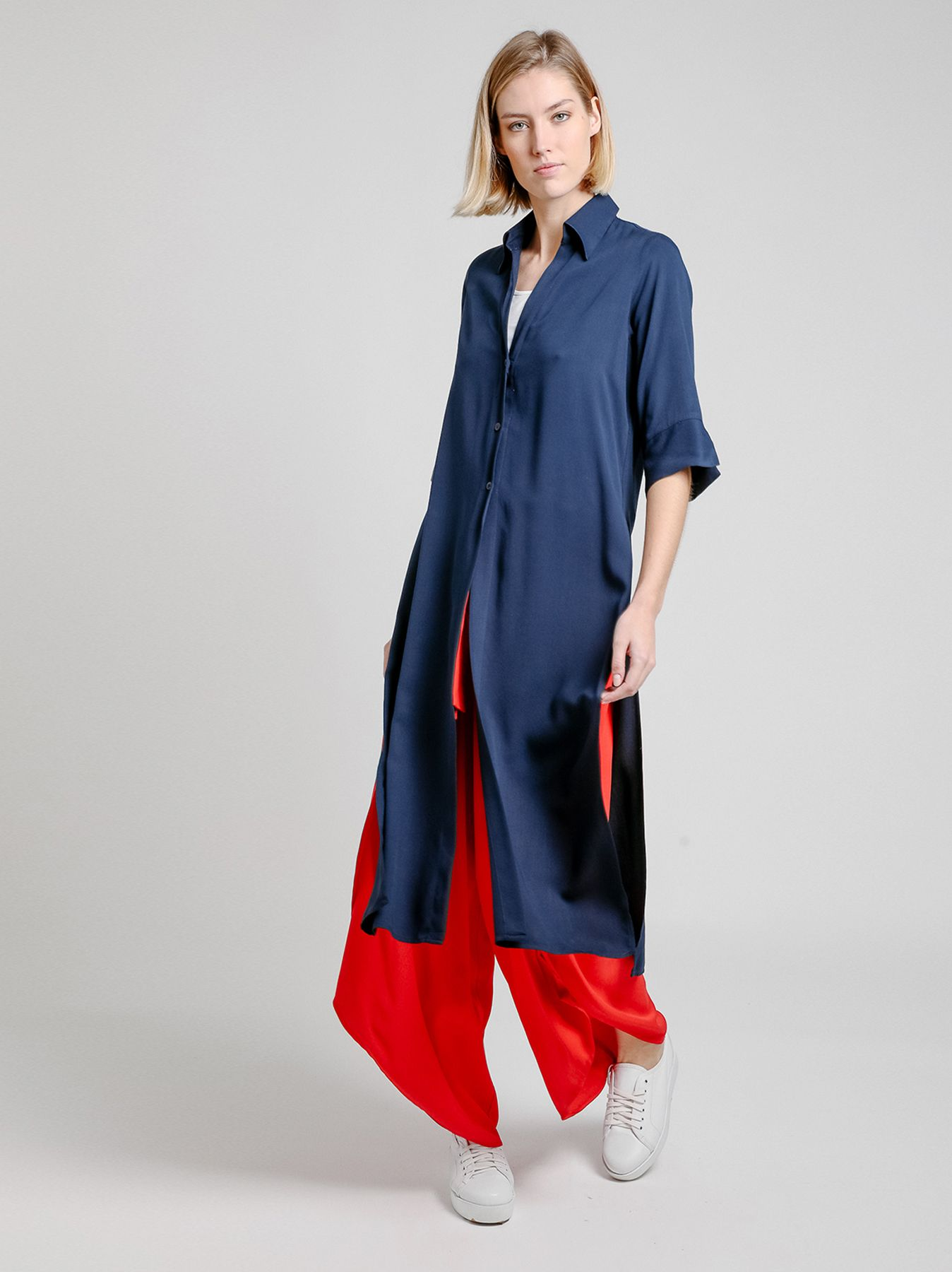 Camicia lunga a kaftano