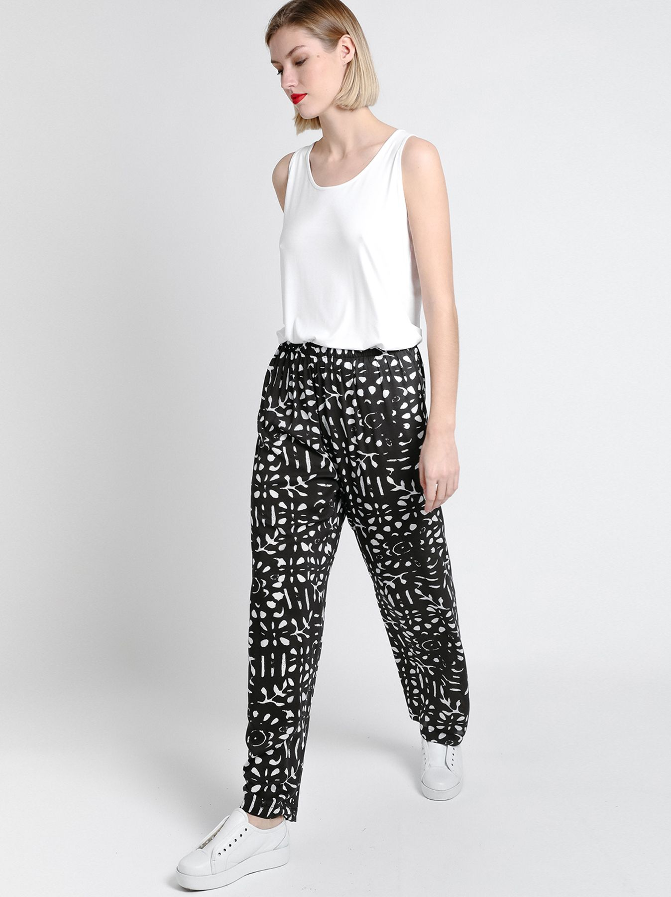 Pantalone morbido in viscosa stampata