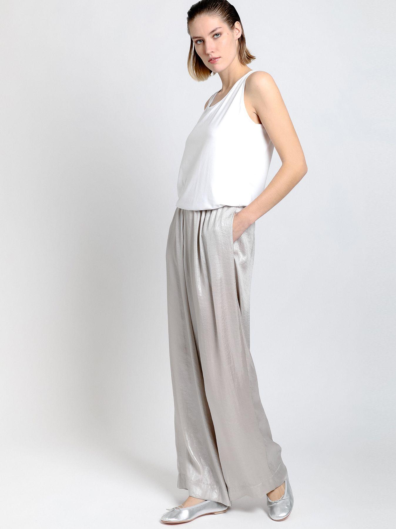 Pantalone elastico in tessuto spalmato
