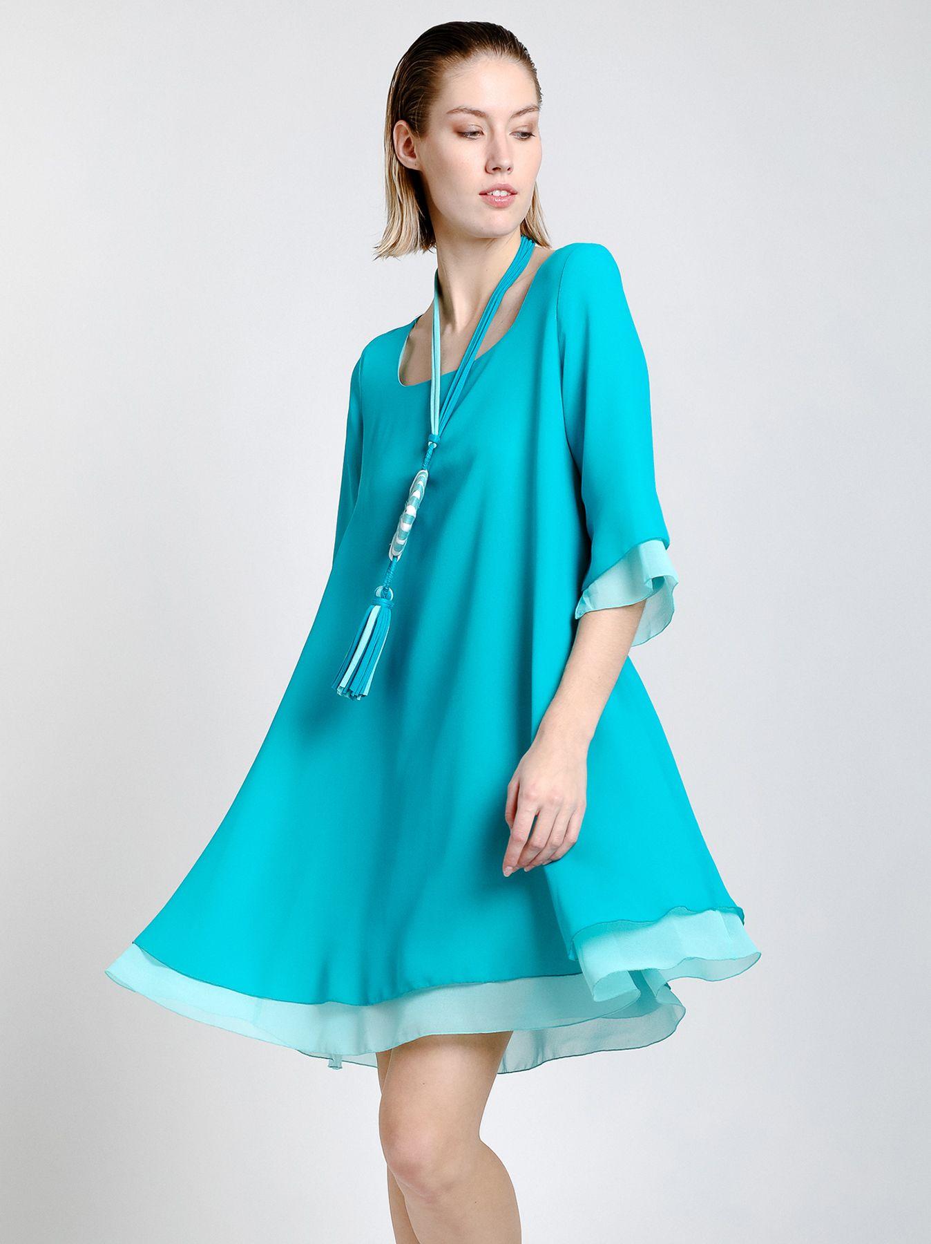 Double layer chiffon dress