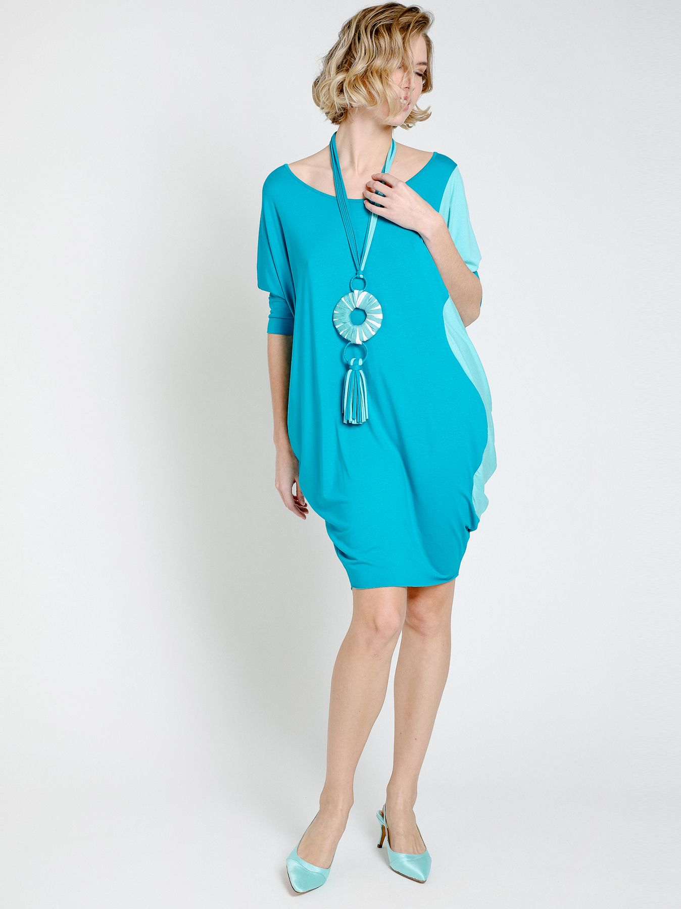 Bi-color over t-shirt dress