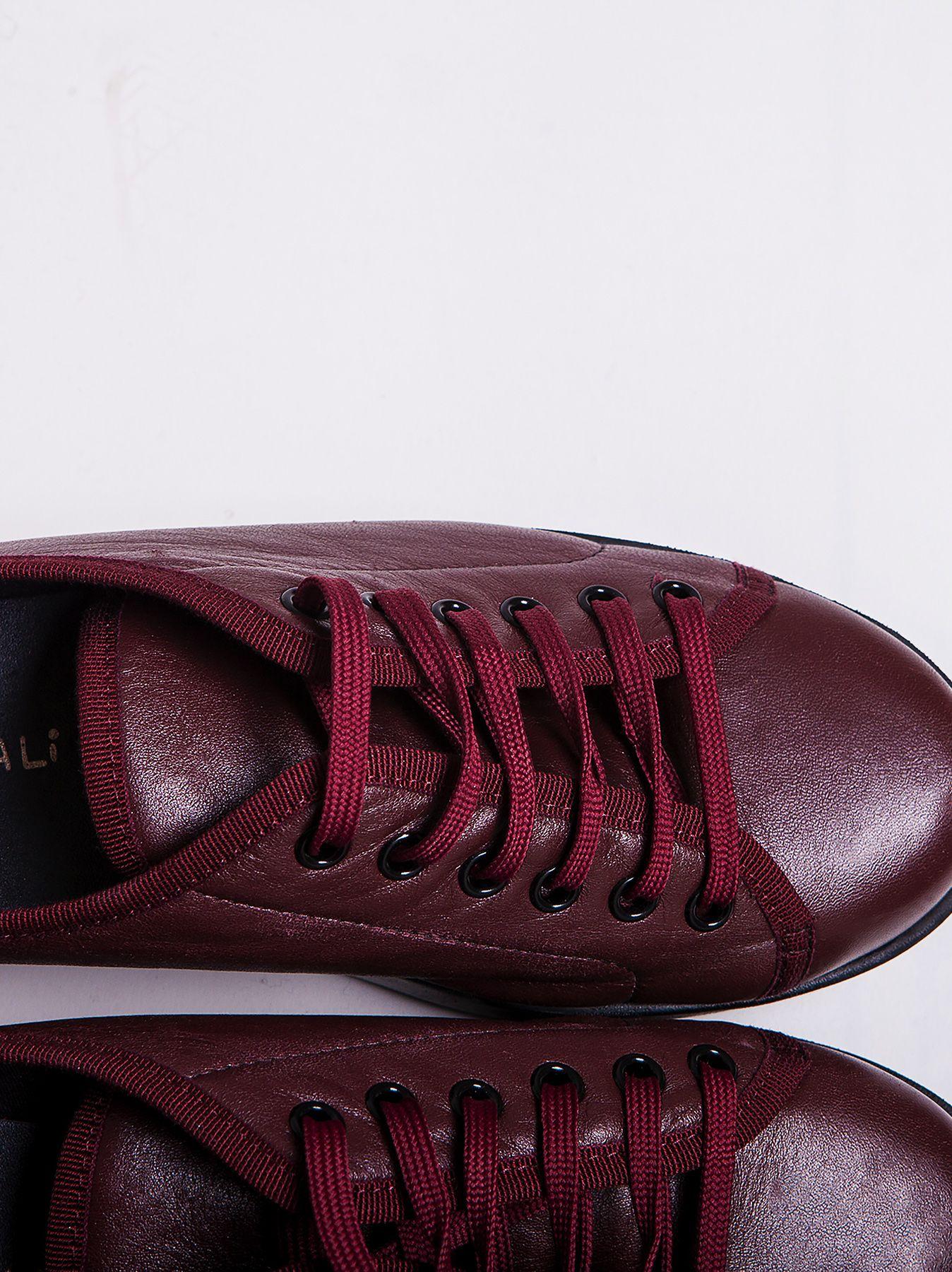 Sneakers plateau bordeaux