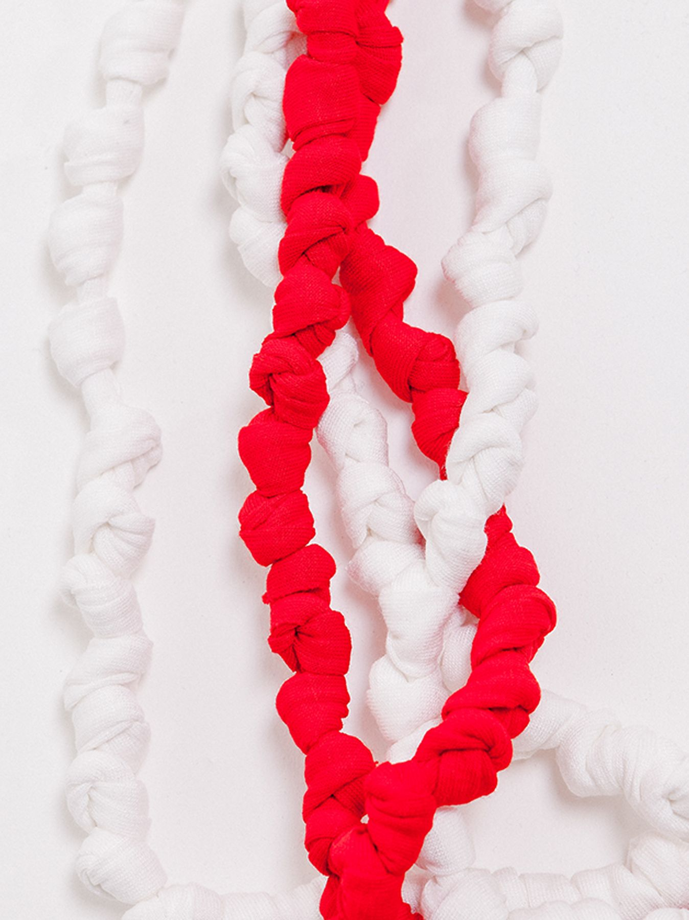 Collana nodi bicolore